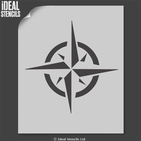 compass star stencil nautical decor ideal stencils