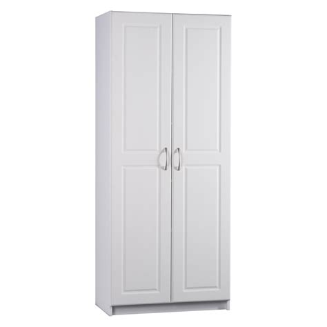 white pantry cabinet ameriwood contemporary deluxe door pantry cabinet