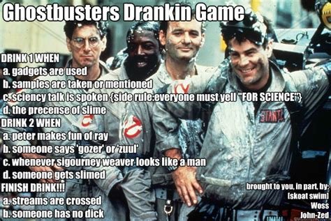 Ghostbusters Memes - ghostbusters drankin game drink 1 when a gadgets are used b sles are taken or mentioned c