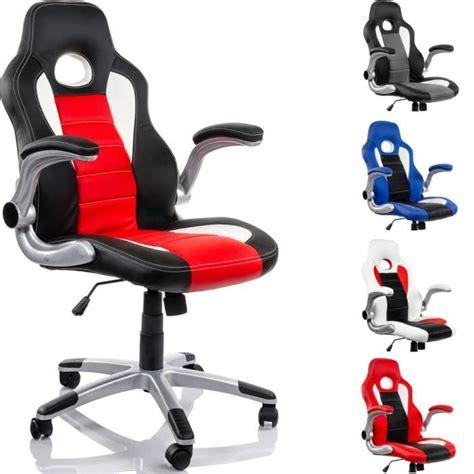 fauteuil de bureau racing noir blanc achat vente chaise de bureau noir cdiscount