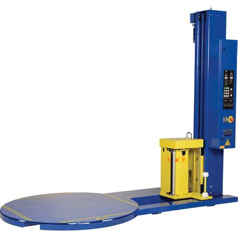 vestil medium duty high performance semi automatic stretch wrap machine  lb capacity