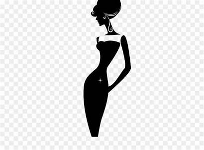 Gambar Wanita Langsing Siluet Silueta Kartun Royaltyfree