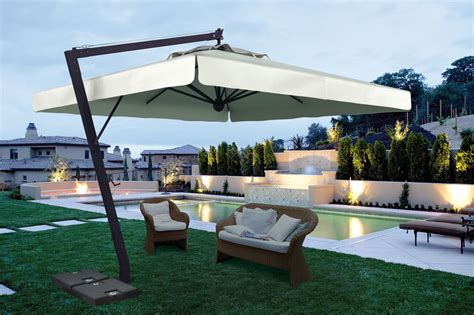 parasol deporte rectangulaire inclinable garden parasol garden parasols patio umbrellas made in italy