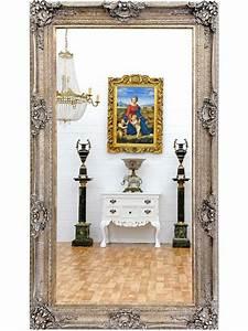Miroir Baroque Argenté : grand miroir baroque argent 212x122 cm aucors meuble de style ~ Teatrodelosmanantiales.com Idées de Décoration
