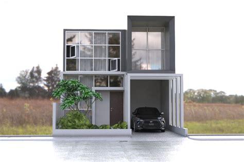 desain rumah kotak minimalis modern desain rumah 7 x 13 rumah 2 lantai minimalis modern 2