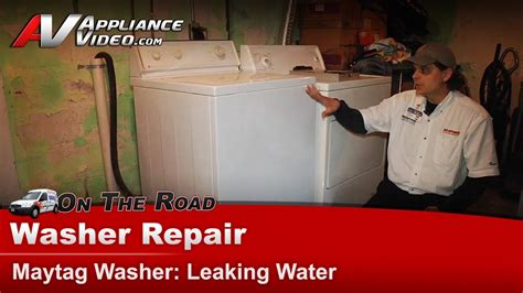 maytag washer leaking from bottom of tub washer leaking water repair diagnostic maytag