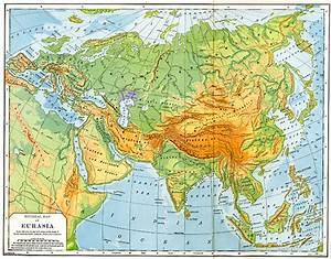 Physical Map of Eurasia