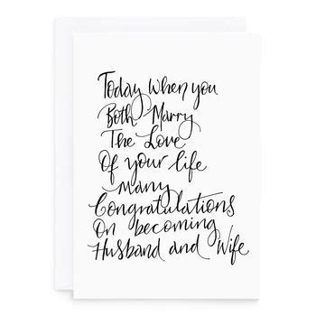 poem wedding card  de fraine design london