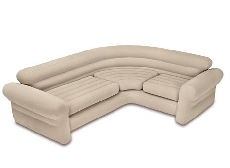 canapé gonflable canapé sofa d 39 angle beige gonflable intex jardideco