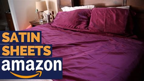 best satin sheets honeymoon sheets review youtube