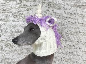 Unicorn Dog Hat / Unicorn Dog Snood / Knit Unicorn Dog Hat