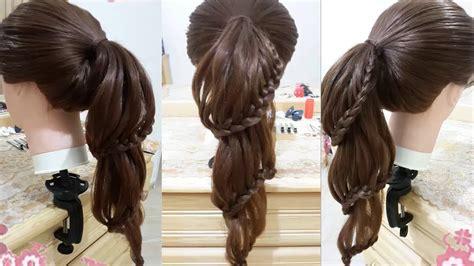 peinados faciles de caballo  trenzas  cabello largo  bonitos  nina  la escuela