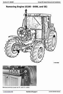 Deer Tractors 6100  6200  6300  6400  6506  6600  Se6100