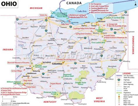 map  ohio  county holidaymapqcom