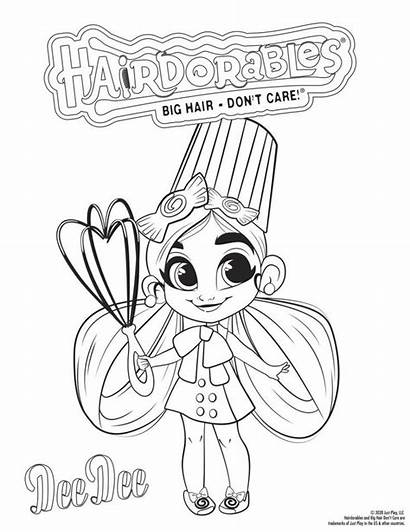 Hairdorables Coloring Care Girly Peel Reveal Surprise