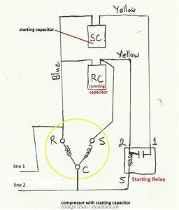 Electrical Wiring Diagram Of  Compressor Popular Air Compressor Capacitor Wiring Diagram Before