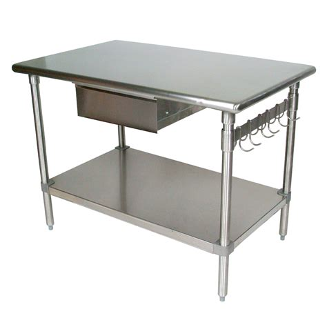 Island Stainless Steel Top Kitchen Table Stainless Steel