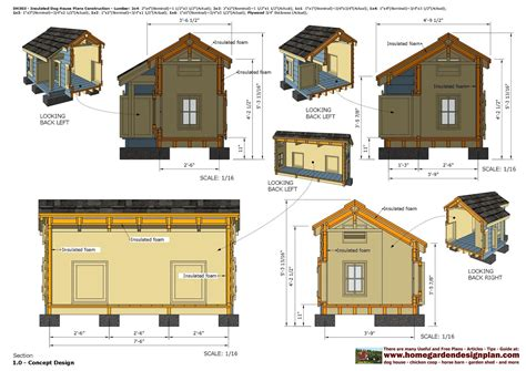 dh insulated dog house plans dog house design