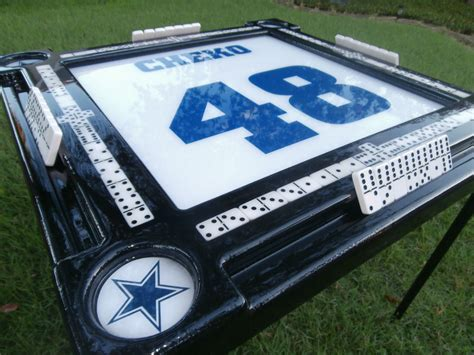 domino table with dallas cowboys theme by domino tables by