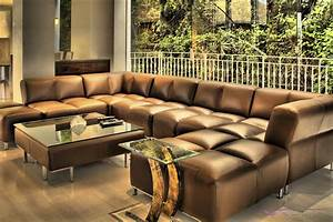 Luxury leather sectional sofas modern black and white for Luxury large sectional sofa