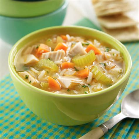 chicken  rice soup recipe land olakes