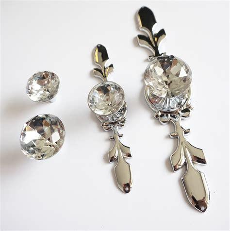 drawer knobs handles glass dresser knob silver