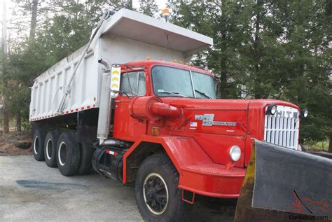 Car And Dump Truck by 1976 White Construcktor Tri Axle Dump Truck