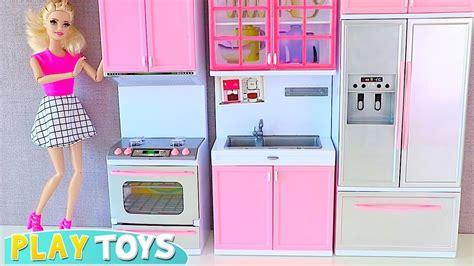 barbie doll kitchen toys set   tea party  disney