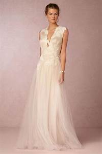 15 plunging neckline wedding dresses weddbook With plunging neckline wedding dress
