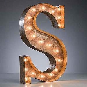24 letter s lighted vintage marquee letters rustic With vintage illuminated marquee letters
