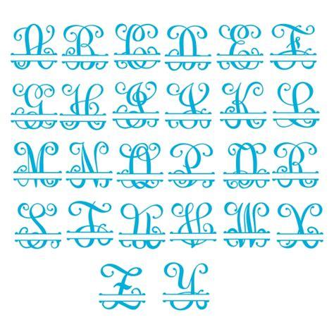 interlocking vine split monogram svg cuttable font