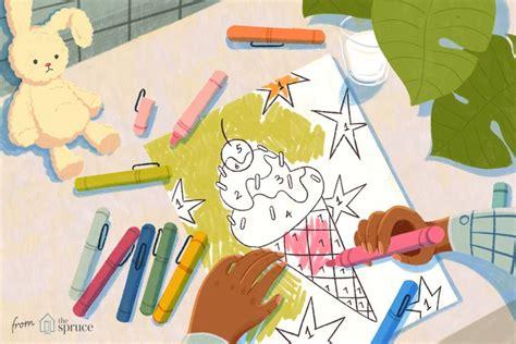 printable color  numbers worksheets  kids
