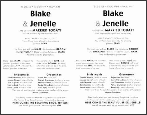 page wedding program templates sampletemplatess