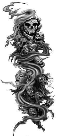 screaming souls tattoos - Google Search | Skull sleeve