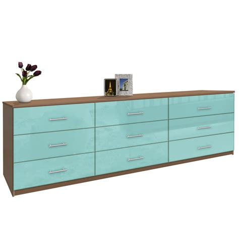 modern  drawer triple dresser  feet long contempo space