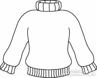 Sweater Outline Clip Clipart Winter Turtle Weather