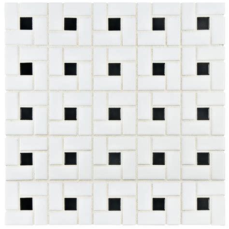 elitetile retro 12 5 quot x 12 5 quot porcelain mosaic tile in