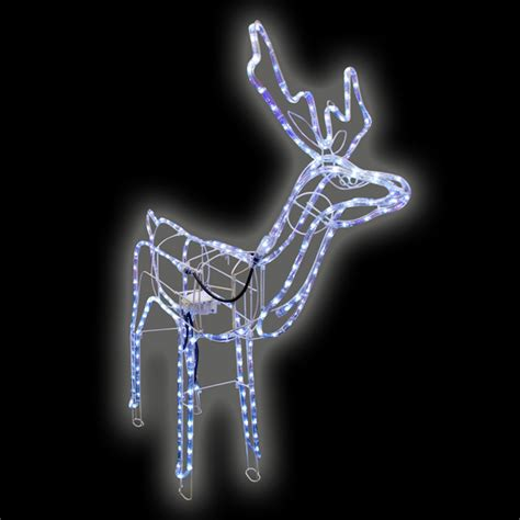 animated christmas reindeer led white rope light indoor