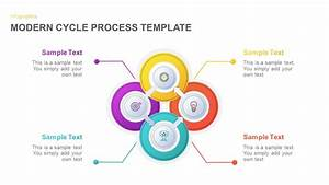 Modern Cycle Process Diagram For Powerpoint
