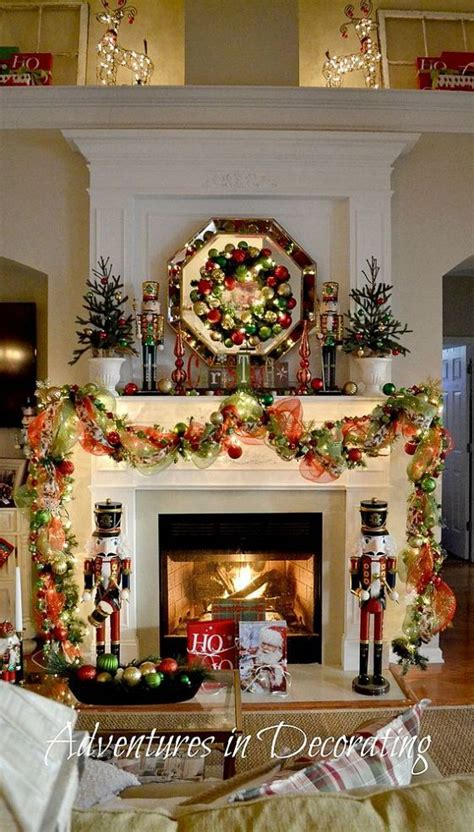 christmas mantels images  pinterest merry