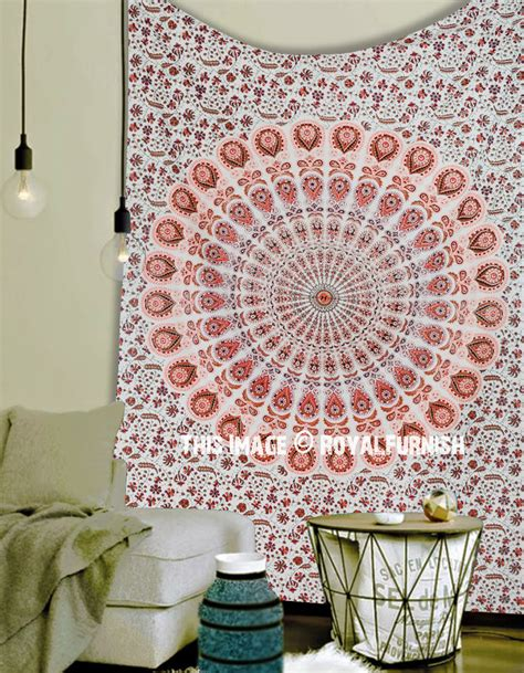 Bedroom Tapestry Uo by Size White Medallion Mandala Hippie Tapestry Bedroom