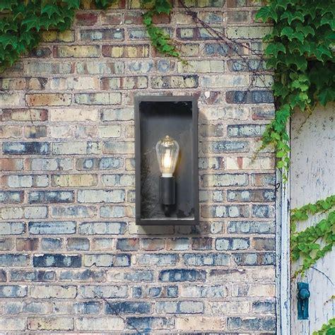 wall light outdoor black mersey lantern wall light