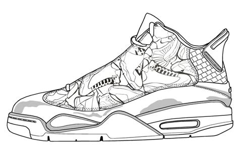 Coloring Jordans by Air 8 Coloring Pages