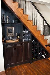 The 25 best ideas about bar under stairs on pinterest for Fascinating open staircase ideas