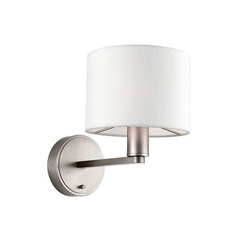 endon 61608 daley switched matt nickel wall light with shades