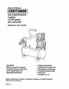 Craftsman 921 152100 User Manual