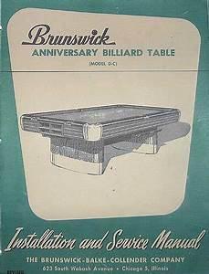 Brunswick Anniversary Dealer Service Manual  Copy