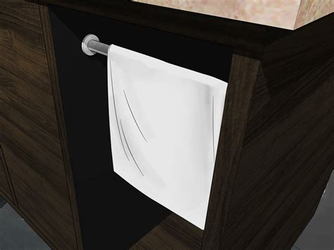 Where To Hang Towels In Small Bathroom by 3 Ways To Hang Bathroom Towels Wikihow