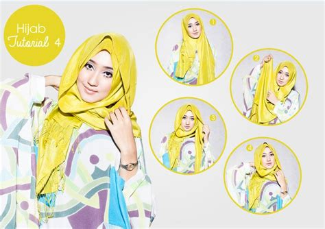 tutorial hijab pesta images  pinterest hijab