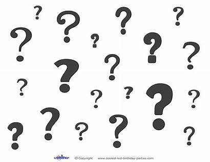 Question Marks Printable Mark Decoration Coloring Printables